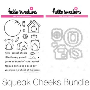 Hello Sweetums, Squeak Cheeks stamp & die bundle, Australia