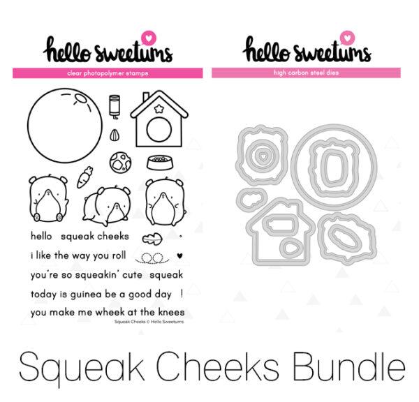 Hello Sweetums, Squeak Cheeks stamp & die bundle, Australia