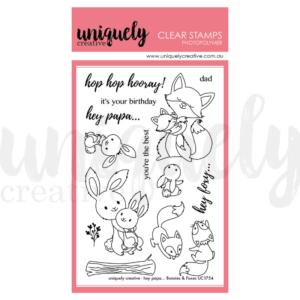 Uniquely Creative, Hey Papa Bunnies & Foxes stamp set, Australia