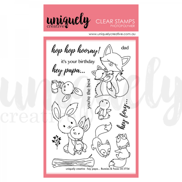 Uniquely Creative, Hey Papa Bunnies & Foxes stamp set, Australia