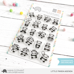 Mama Elephant, Little Panda Agenda stamp set, Australia