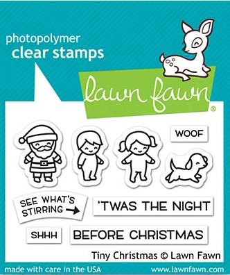 Lawn Fawn, Tiny Christmas stamp set, Australia