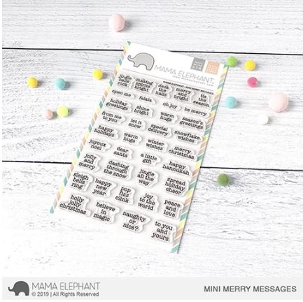Mama Elephant, Mini Merry Messages stamp set, Australia