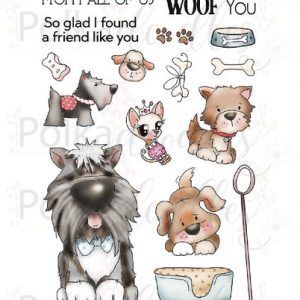 Polkadoodles, Woof You Dogs stamp set, Australia