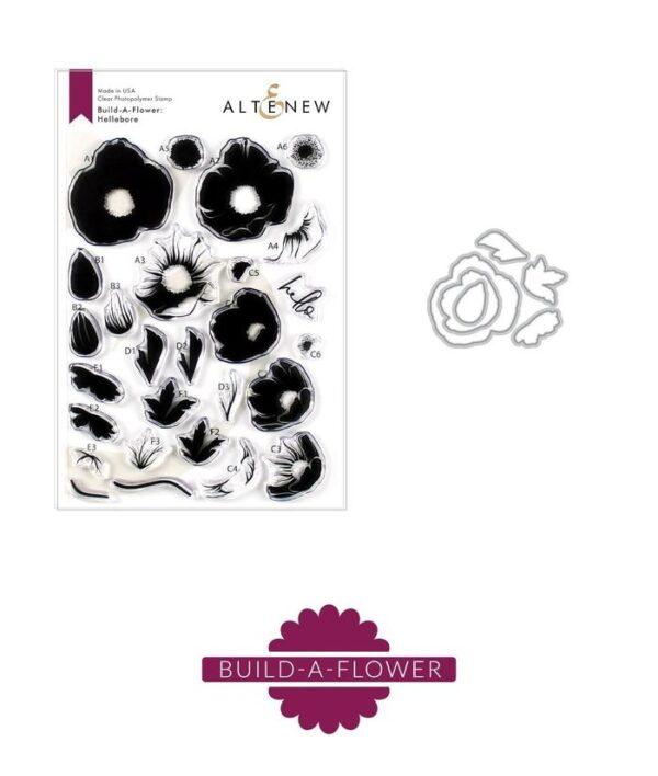 Altenew, Build A Flower Hellebore stamp & die bundle, Australia