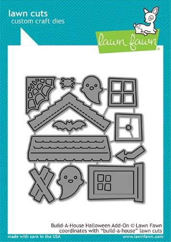 Lawn Fawn, Build A House Halloween add-on die set, Australia