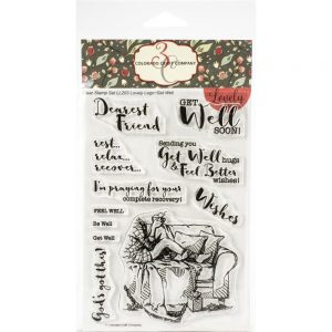Colorado Craft Company, Lovely Legs Get Well stamp set, Australia