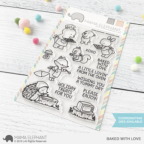 Mama Elephant, Baked With Love stamp set, Australia