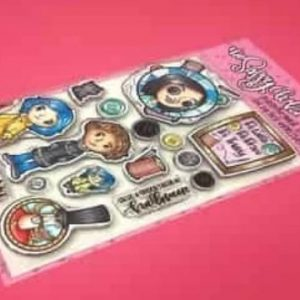 The Sassy Club, Button girl stamp set