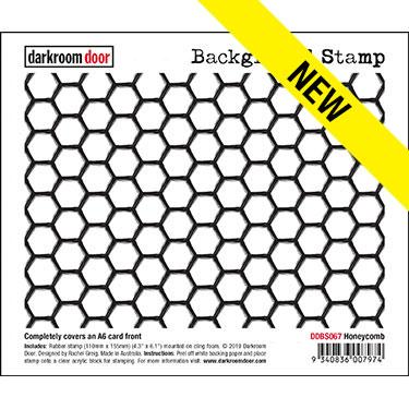 Darkroom Door, Honeycomb background stamp, Australia