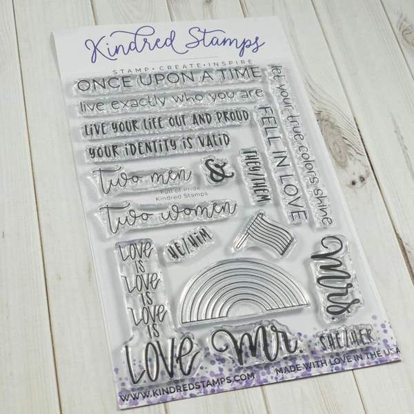 Kindred Stamps, Full of Pride stamp set, Australia