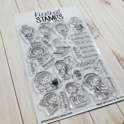Kindred Stamps, Kindred Plans Celebrations stamp set, Australia