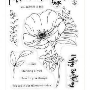 Altenew, Paint A Flower Poppy stamp set, Australia