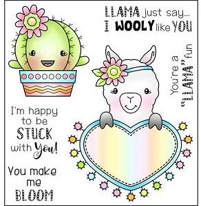Darcie's Heart & Home, Llama Fun stamp set, Australia