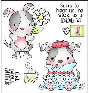 Darcie's Heart & Home, Sick as a Dog stamp set, Australia
