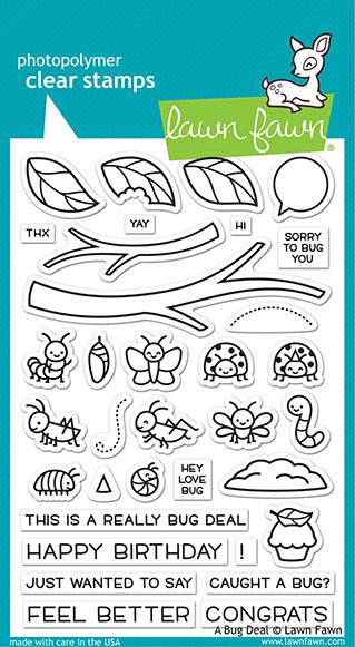 Lawn Fawn, A Bug Deal stamp set, Australia