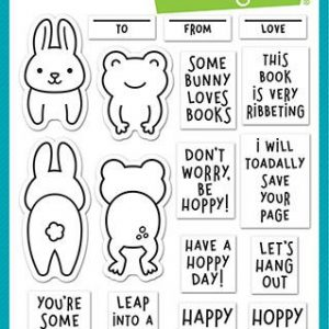 Lawn Fawn, Don't Worry, Be Hoppy stamp set, Australia
