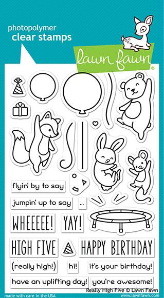 Lawn Fawn, Really High Five stamp set, Australia