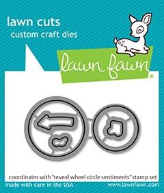 Lawn Fawn, Reveal Wheel Circle Sentiments die set, Australia