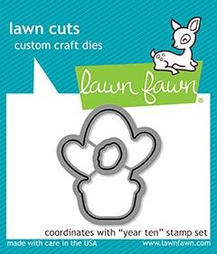 Lawn Fawn, Year Ten die set, Australia