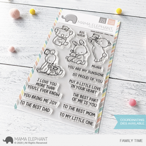Mama Elephant, Family Time stamp set, Australia