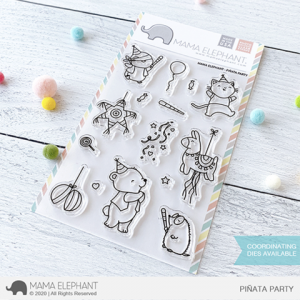 Mama Elephant, Pinata Party stamp set, Australia