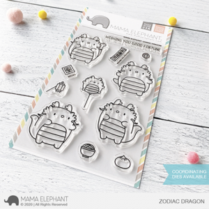 Mama Elephant, Zodiac Dragon stamp set, Australia