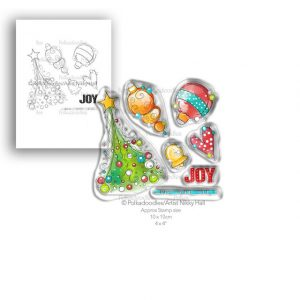 Polkadoodles, Deck The Halls stamp set, Australia