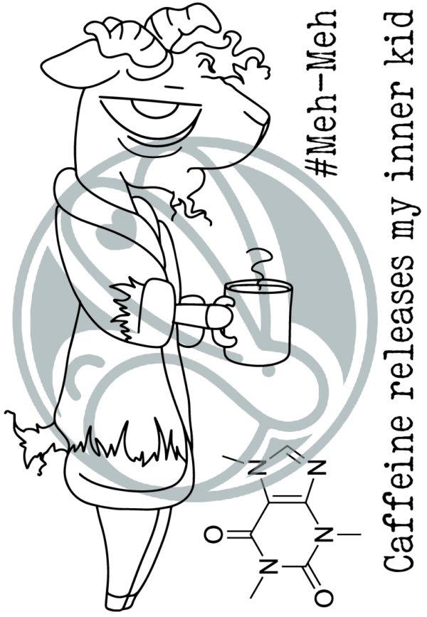 The Rabbit Hole Designs, Caffeinated Goat stamp set, Australia