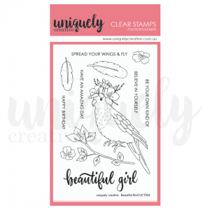 Uniquely Creative, Beautiful Bird stamp set, Australia
