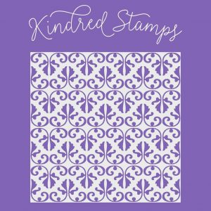 Kindred Stamps, Damask stencil, Australia