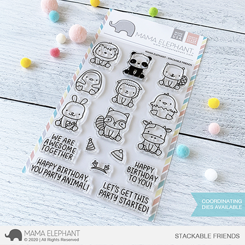 Mama Elephant, Stackable Friends stamp set, Australia
