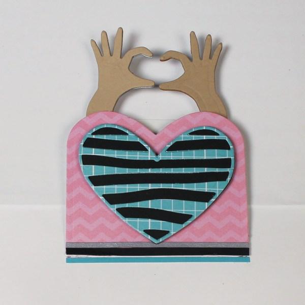 i-Crafter, Heart Hand Wiper Insert die set, Australia