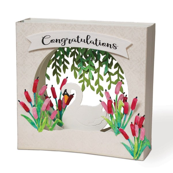 i-Crafter, Tunnel Card Base Swan die set, Australia