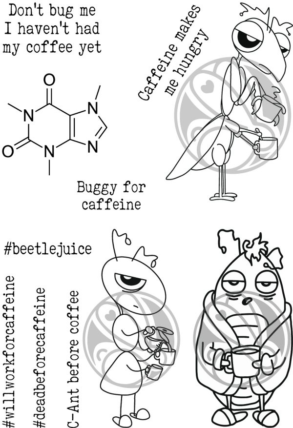 The Rabbit Hole Designs, Buggy For Caffeine stamp set, Australia