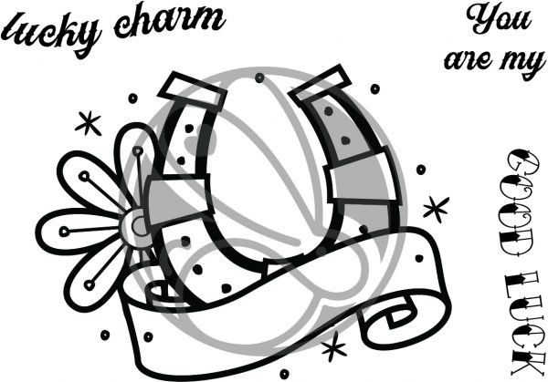 The Rabbit Hole Designs, Old School Tattoo - Horseshoe stamp set, Australia