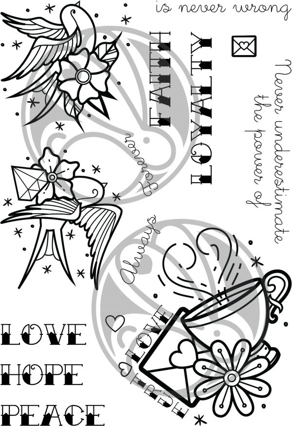 The Rabbit Hole Designs, School Tattoo - Affirmation stamp set, Australia