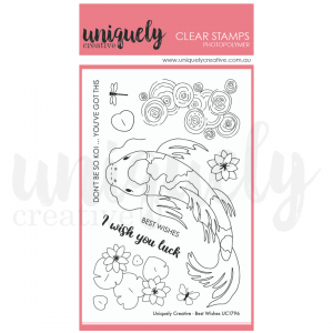 Uniquely Creative, Best Wishes stamp set, Australia