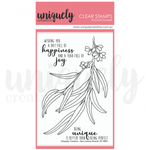 Uniquely Creative, Gum Leaves Branch stamp set, Australia