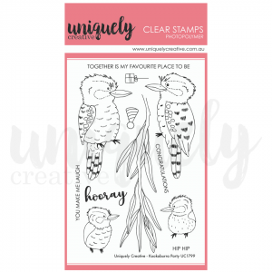 Uniquely Creative, Kookaburra Party stamp set, Australia