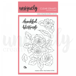 Uniquely Creative, Rose Garden stamp set, Australia