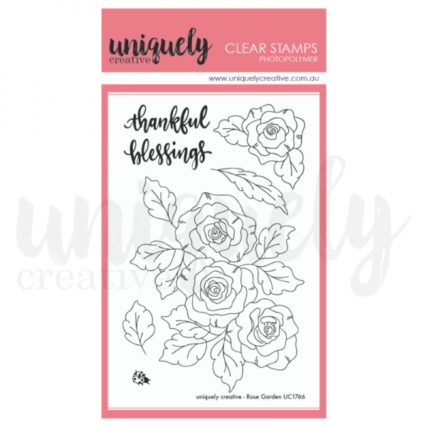 Uniquely Creative, Rose Garden stamp set, Australia