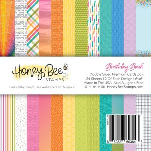 Honey Bee Stamps, Birthday Bash 6x6 paper pad, Australia