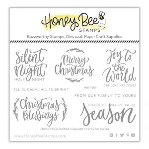 Honey Bee Stamps, Christmas Blessings stamp set, Australia