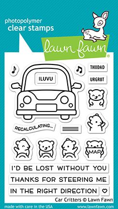 Lawn Fawn, Car Critters stamp set, Australia
