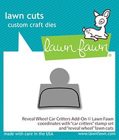 Lawn Fawn, Reveal Wheel Car Critters add-on die set, Australia