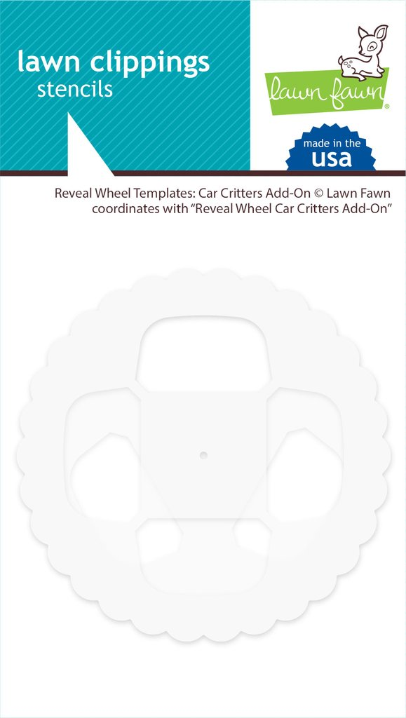 Lawn Fawn, Reveal Wheel Templates Car Critters add-on, Australia