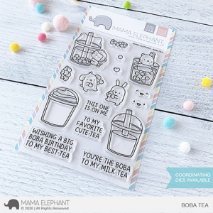 Mama Elephant, Boba Tea stamp set, Australia
