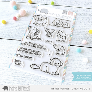 Mama Elephant, My Pet Puppies stamp set, Australia