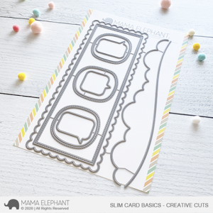 Mama Elephant, Slim Card Basics die set, Australia